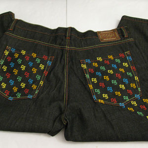 COOGI Dark Wash  Mens Jeans 44x35 Embroidered